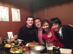 Jason Wetzler FFA member in Japan with host family 2014